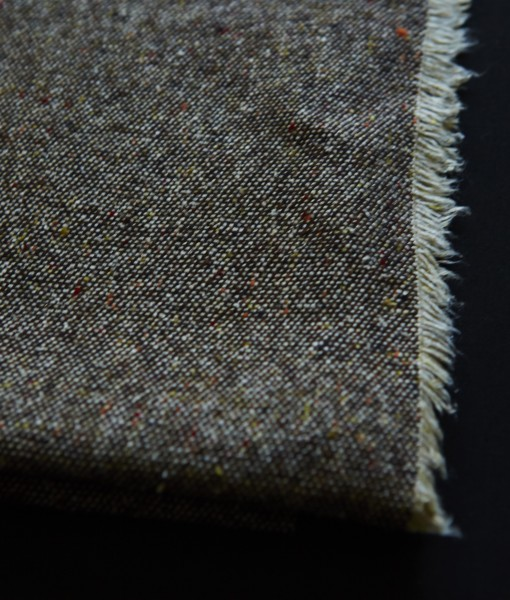 STABLE BROWN & WHITE SNOWSTORM DETAIL FINE KNIT
