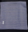 STABLE NAVY STRIPE ON GREY DOUBLE LONG LINEN