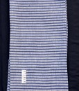 STABLE NAVY STRIPE ON GREY SKINNY LINEN
