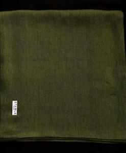 STABLE RICH GREEN HERRINGBONE DOUBLE LONG LINEN