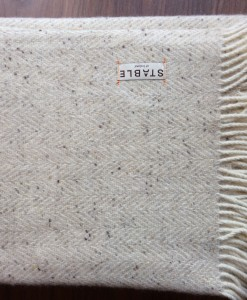 Irish Handwoven Herringbone Buttermilk  Blanket