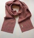 STABLE small Red with Green Stripe Irish Linen Skinny Scarf