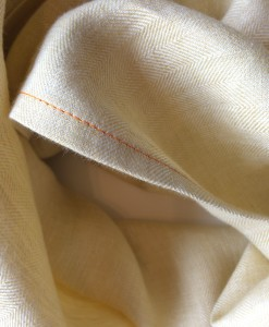 STABLE Butter Irish Linen Single Large Scarf Detail