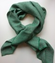 STABLE GREEN Herringbone Irish Linen Single Large Scarf