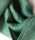 STABLE Green Herringbone Irish Linen Scarf Detail