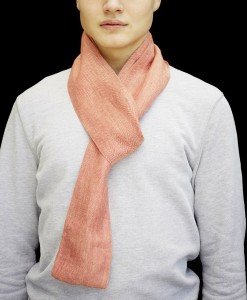 STABLE Tomato Orange Skinny Scarf